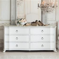 Eloquence Bordeaux Dresser in Silver and Antique White