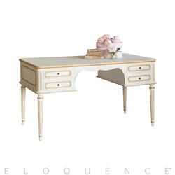 Eloquence Coco Madame Desk in Gold Highlight