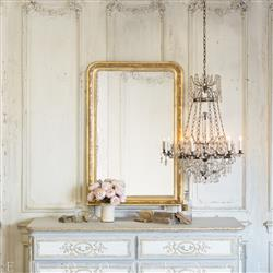 Eloquence Louis Philippe Mirror - Etched Gold