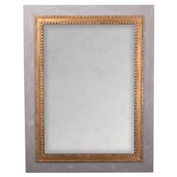 Alex French Country Gold Antiqued Rectangular Wall Mounted Mirror