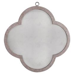 Marje French Country Brown Clover Wall Mirror