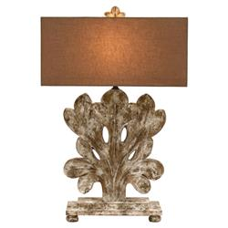 Annaliese French Country Antique Fleur Base Table Lamp