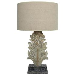 Eleonora French Country Antique Grey Acanthus Table Lamp