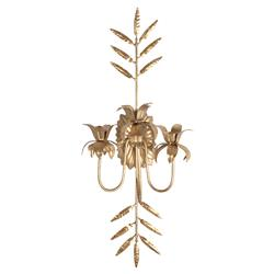Regency Antique Gold Leaf Metal Candle Sconce
