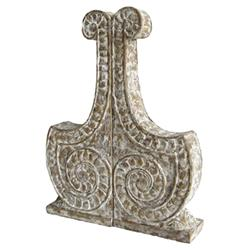 Elli Global Bazaar Antique White Carved Bookends - Pair
