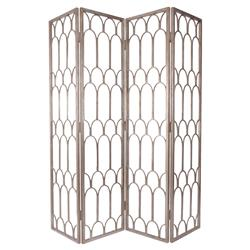 Ebele Global Silver Mountain Pattern Folding Floor Screen