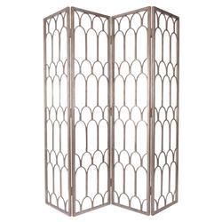 Ebele Global Silver Mountain Pattern Folding Floor Screen