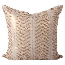 Cahaya Global Gold Embroidered Beaded Decorative Pillow - 24x24