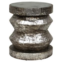 Bimini Global Bazaar Rustic Silver Stool End Table