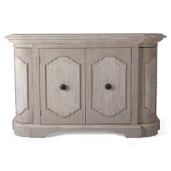 Duval French Country Rustic Oval Wood Sideboard