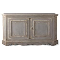 Cameron French Country Brown Etched Hardwood Sideboard