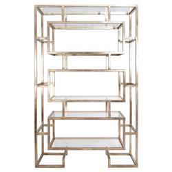 Michel Hollywood Regency Silver Geometric Display Case