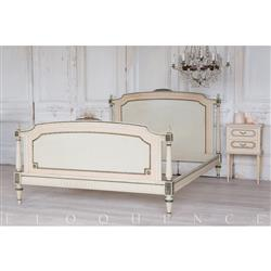 Eloquence® French Vintage Sage Pink Two Tone Carved Wood Bed