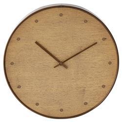 Clifton Modern Brown Walnut Wall Clock