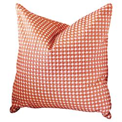 Modern Small Orange Circle Embroidered Pillow - 20x20