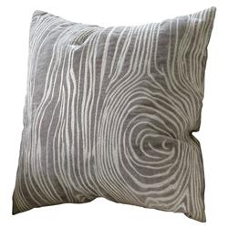 Sidney Modern Grey Faux Bois Wood Grain Pillow - 20x20