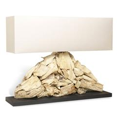 Pymia Root Modern Driftwood Long Rectangle Lamp | 548047