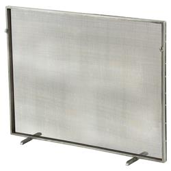 Arteriors Gita Classic Simple Iron Fireplace Screen - Silver