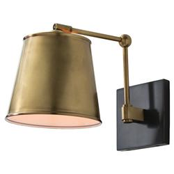 Arteriors Watson Bronze Antique Brass Shade Classic Sconce