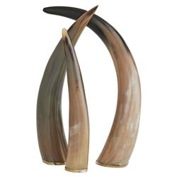 Arteriors Bernard Bazaar Polished Horn Sculptures - Set of 3