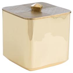 Polished Gilded Brass Etched Lid Ice Bucket