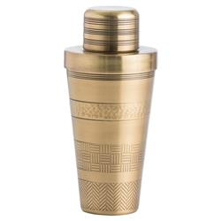 Mona Global Etched Brass Cocktail Shaker
