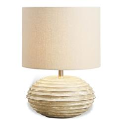 Trevett White Wash Wood Coastal Beach Style Lamp | 585008