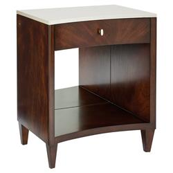 Caracole You Light Up My Life Classic Brown Stone Top Nightstand