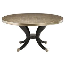 Caracole Center Of Attention Regency Gold Stencil Round Wood Dining Table