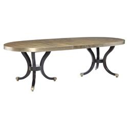 Caracole Draw Attention Regency Gold Stencil Double Pedestal Dining Table
