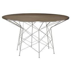 Urban Modern Classic Chrome Dimension Wood Table