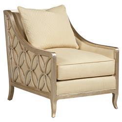 Finnian Regency Antique Gold Fret Beige Armchair