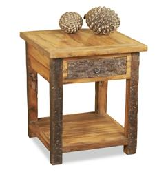 Fyde Peak Reclaimed Wood Lodge Cabin Side Table