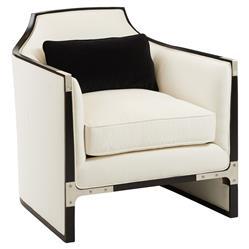 Octavio Modern Black Tuxedo Trim Ivory Chair