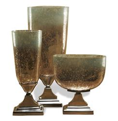 DuPage Hollywood Regency Style Trophy Mercury Glass Vases | 955061
