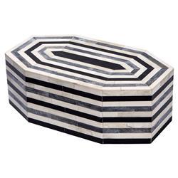 Interlude Interlude Leilani Global Bazaar Striped Bone Octagonal Box - Large