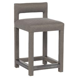 Thom Filicia Utica Classic Upholstered Slate Grey Diamond Counter Stool