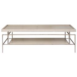 Michael Weiss LangleyGrey Rectangle Tray Slender Bronze Coffee Table