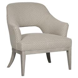 Vanguard Kaley Classic Retro Yellow Pattern Grey Armchair