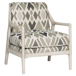 Vanguard RandallGrey Abstract Tribal Print Wood Armchair