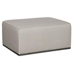 Vanguard Panos Modern Classic Grey Diamond Pattern Ottoman