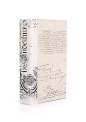 Single Ivory Bold Baroque Script  Decorative Book