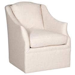 Vanguard Abigail Coastal Cream Rounded Swivel Armchair