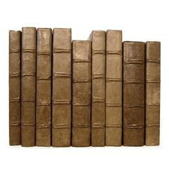Linear Foot of Solid Cocoa Vintage Decorative Books