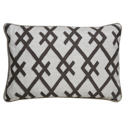 Ignis Global Graphic Grey Hatch Ivory Pillow - 16x24