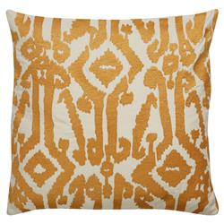 Azalea Global Artisan Embroidered Gold Pillow - 18x18