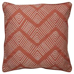 Etro Global Zig Zig Embroidered Rust Pillow - 18x18