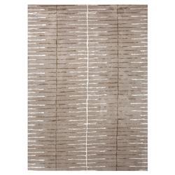 Watten Modern Linear Trellis Grey Wool Rug - 2' x 3'