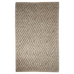 Pom Scandia New Zealand Wool Textured Grey Rug - 2' x 3'
