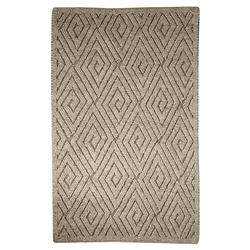 Pom Scandia New Zealand Wool Textured Grey Rug -5' x 8'